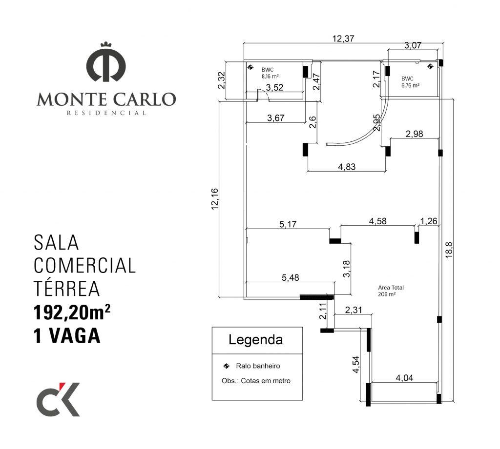 CK - MONTE CARLO - PLANTA SALA COMERCIAL