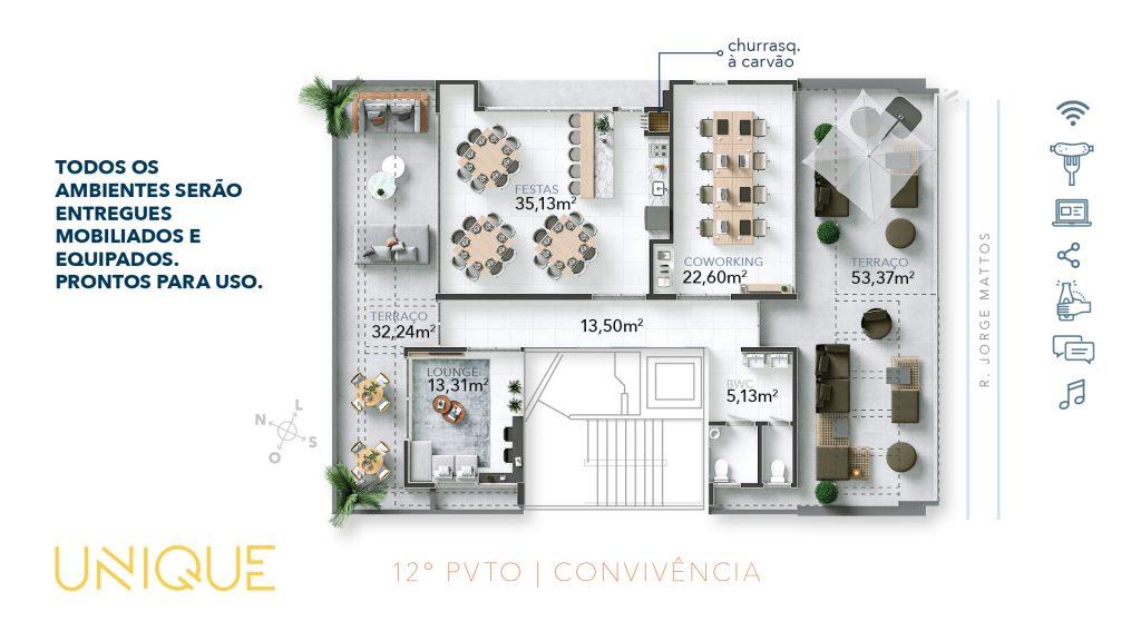 CK - UNIQUE - PLANTAS - AREA DE CONVIVENCIA